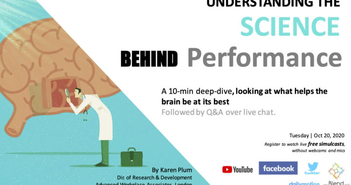 Understanding the Science behind Performance at Work   A 10-min talk
